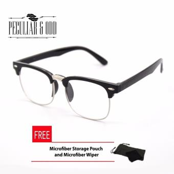 Clubmaster Classic Sunglasses with Clear Flash Lenses R_3398/97 Unisex Computer Eyeglasses Anti Radiation Replaceable Lens Optical Frame