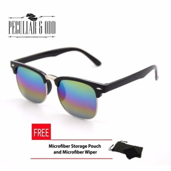 Clubmaster Classic Sunglasses with Multicolor Flash Lenses R_3398