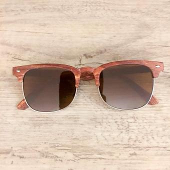 Clubmaster Wood Sunglasses Brown Frame Brown Lens Sunnies Price Philippines