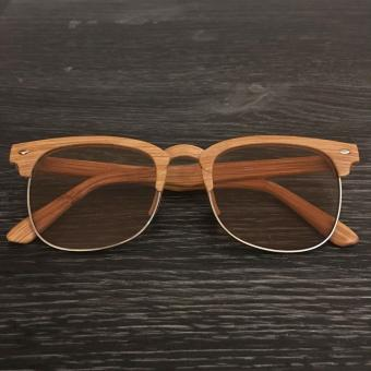 Clubmaster Wood Sunglasses Honey Frame Light Brown Lens Sunnies