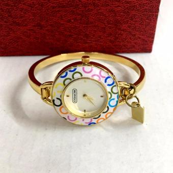 Coach Phoebe Stainless Steel Bangle Watch in Multicored C print