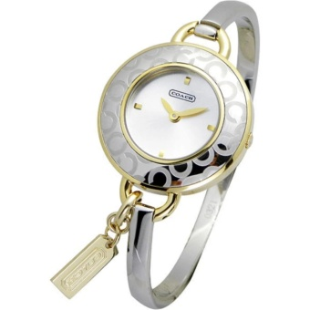 Coach Stainless Steel Two Toned Bangle Watch in Silver and Gold