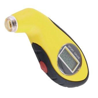 Cocotina Lcd Digital Car Tire Air Pressure Gauge Tester Tool Yellow