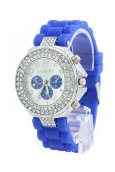 Cocotina Quartz Crystal Rhinestone Wrist Watch Dark Blue