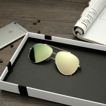Cool cool men's sun protection colorful aviator sunglasses glasses