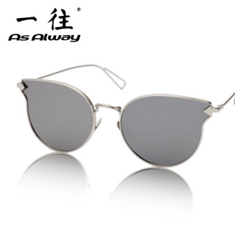 Cool female star models eye retro sunglasses sun glasses