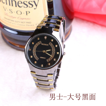 Couple's New style stainless steel with men's watch