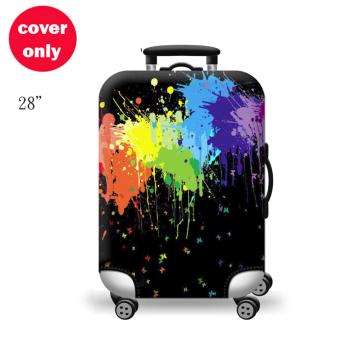 (Cover only) Elite Luggage Cover / Suitcase Cover ( Black Ink ) - Large