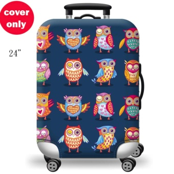 (Cover only) Elite Luggage Cover / Suitcase Cover ( Blue Soldier)-medium