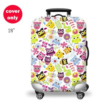 (Cover only) Elite Luggage Cover / Suitcase Cover ( Happy Owl )-large