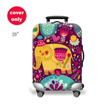 (Cover only) Elite Luggage Cover / Suitcase Cover ( Thai Elephant )- small