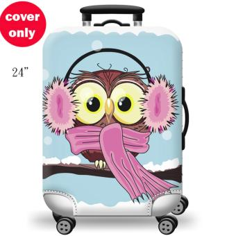 (Cover only) Elite Luggage Cover / Suitcase Cover ( Winter Owl )- medium