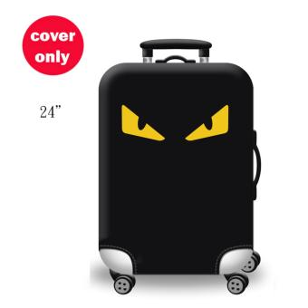 (Cover only) Elite Luggage Cover / Suitcase Cover ( Yellow Eye ) -medium