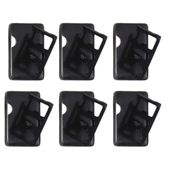 Credit Card Tool and Multifunction Emergency Pocket Knife Set of 6(Black)