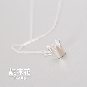 CROWN Japan and South Korea gold silver necklace choker