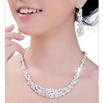 Crystal Bridal Jewelry Sets Hotsale Necklace+earrings JewelryWedding - intl