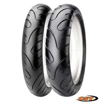 CST Scooter Tubeless 2xTires Set for Honda Beat 110 (Front:80/90-14 Rear: 90/90-14) C6577