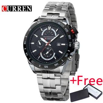 CURREN Brand 3ATM Waterproof Sports Watches Men Calendar Analog Quartz Watch Casual Dress Wristwatch 8148 - intl