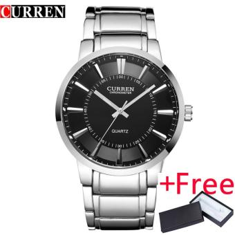 curren famous watches quart watch design sport steel clock topquality military men male luxury Metal watchband 8001B - intl