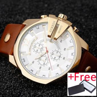 CURREN Men Watches 2017 Top Luxury Popular Brand Watch Man Quartz Gold Watches Men Clock Men's Watch 8176 - intl