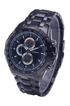 Curren Men's Stainless Steel Strap Watch 8023 Black - Intl - 2