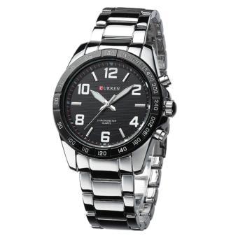 Curren Stainless Steel Strap Unisex Watch 8107 (Silver/Black/White)