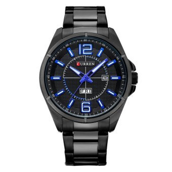 Curren Stainless Steel Strap Unisex Watch 8271 (Black/Blue)