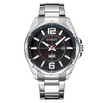 Curren Stainless Steel Strap Unisex Watch 8271 (Silver/Black)