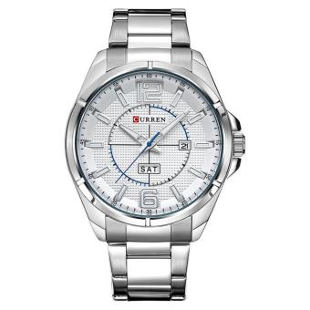 Curren Stainless Steel Strap Unisex Watch 8271 (Silver/White)