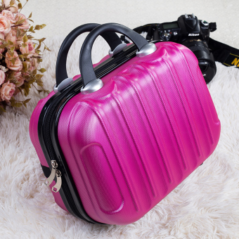 Cute large capacity portable cosmetic bag