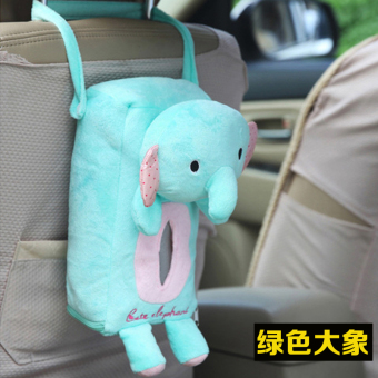 Cute plush car hanging tissue box tissue bag