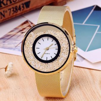 CWL-CT500 Women Luxury Fashion with crystal beads Watch (Gold)