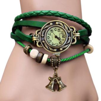 Cyber Bell Pendant Women's Bracelet Wrist Watch (Green)