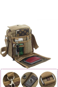 Cyber Men Messenger Bags Canvas Vintage Bag Men Shoulder Crossbody Bags Outdoor Travel Bag(Brown)