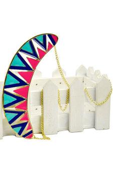 Cyber Punk Decent Candy Contrast Color Necklace Chain (Multicolor) - picture 2