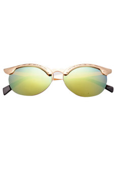 Cyber Retro Unisex Men's Semi-Rimless Sunglasses (Green)