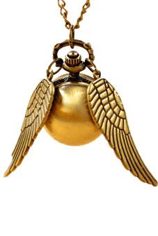 Cyber Vintage Bronze Punk Steampunk Quartz Pocket Watch Pendant Chain Necklace (Brown) - picture 2