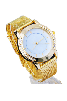 Cyber Women's Quartz Wrist Watch (Gold)