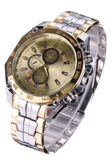 Cyber Women's Steel Luxury Analog Quartz Wrist Watch (Gold)