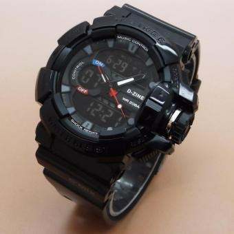 D-ZINER DZ-8089 Black Resin Dual Time Mens Sports Analog Digital Watch Price Philippines