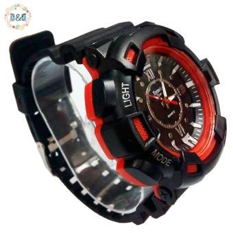 D&D C804 Fashion Men Black Silicone strap Sport Quartz Wrist Watch - 2