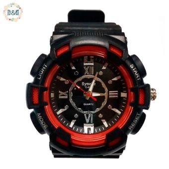 D&D C804 Fashion Men Black Silicone strap Sport Quartz Wrist Watch - 3