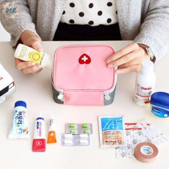 D&D Medicine Bag Travel First Aid Emergency Bag Outdoors Camping Hunt Pill Storage Bag Survival Kit (Pink) - 3