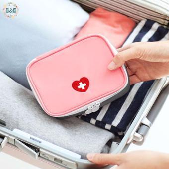 D&D Medicine Bag Travel First Aid Emergency Bag Outdoors Camping Hunt Pill Storage Bag Survival Kit (Pink) - 2