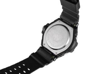 D&D Men's Black Multifunctional Diving Digital LED Outdoor Sports Rubber Strap Watch SNK-67876DD - 3
