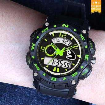 D&D ZGO 512 Men's LED Digital Outdoor Wristwatch Sports Electronic Watch(Green) - 3