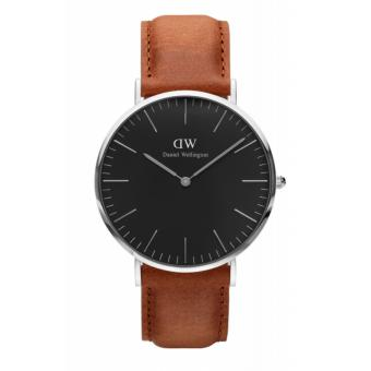 Daniel Wellington Classic Black Durham 40mm Silver Watch