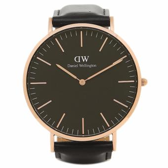 DANIEL WELLINGTON CLASSIC SHEFFIELD MEN'S BLACK GOLD WATCH