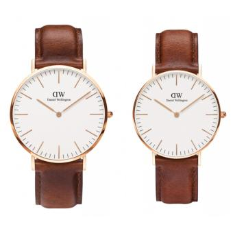 Daniel Wellington Classic St. Mawes 40mm and 36mm Rosegold CoupleWatch