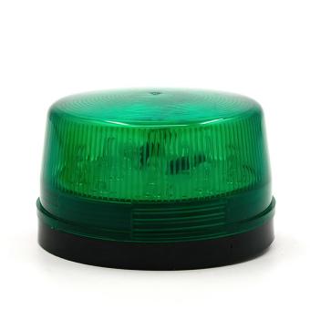 DC 12V 30mA Plastic Alarm Strobe LED Light Siren Green